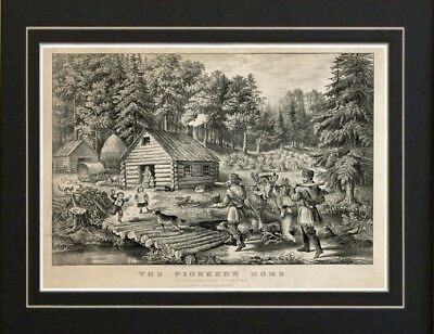 The Pioneer Frontier Home Currier & Ives 1867 print