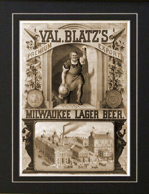 1873 Val Blatz Beer Milwaukee Advertisement Ad Print