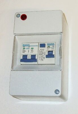 Caravan 240v consumer unit RCD with 1 MCB Caravan, Boat, Garage etc  PO103
