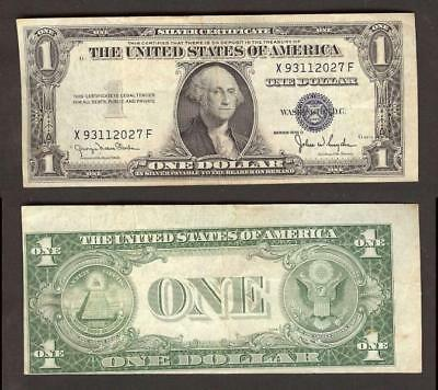 $1 1935-D SILVER Certificate=Error=Blue Seal=Faulty Alignment ...