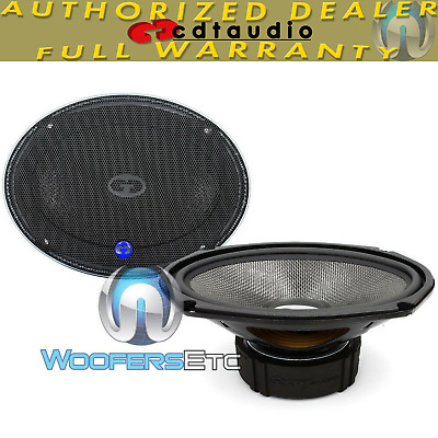"CDT AUDIO HD-690CF 6""x9"" CARBON FIBER CAR SUBWOOFER MIDWOOFER SPEAKERS PAIR NEW"