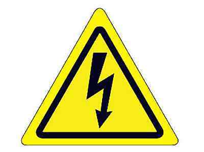 """High Voltage Safety Label 2.37"""" x 2.68"""" Peel and Stick"""