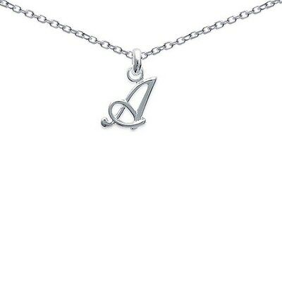 Pendentif FEMME Initiale Lettre A ARGENT Neuf + CHAINE