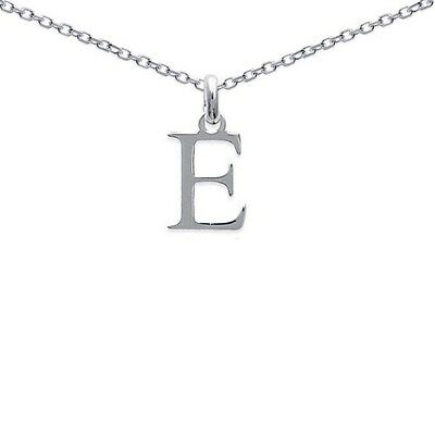 Pendentif HOMME Initiale Lettre E ARGENT Neuf +CHAINE