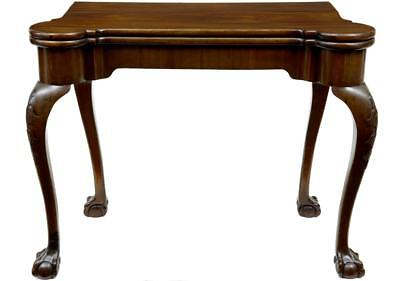 19Th Century Chippendale Influenced Mahogany Card Table