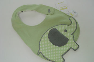 Gymboree Brand New Baby Bib Elephant Green NEW
