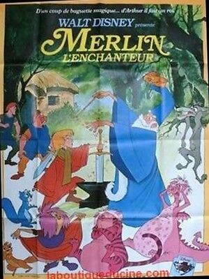 MERLIN L'ENCHANTEUR Affiche Cinéma Movie Poster DISNEY
