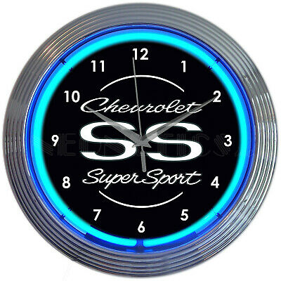 Neon Clock Chevy Chevelle  GM sign Man cave Chevrolet
