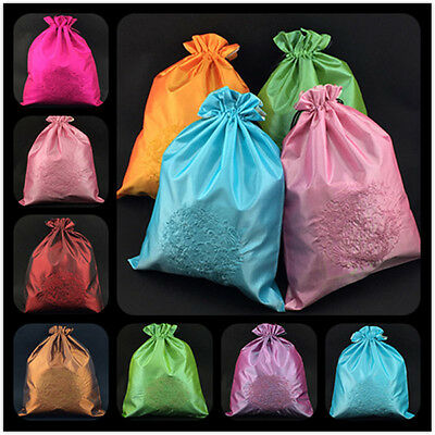 Wholesal10pcs Chinese Classi Embroidery Dragon Silk Cloth& Shoe Bag Pouch Purse