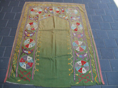 Antique Uzbek Silk Hand Made- Embroidered Suzani