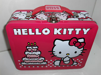 Hello Kitty`Raised Graphic`Metal Lunchbox`New`Free To US