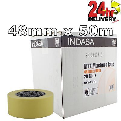"Indasa 48mm Low Bake Masking Tape 2"" Box of 20 Rolls"