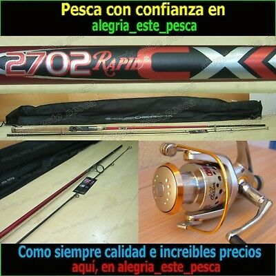 EQUIPO PESCA SPINNING - RAPID CX 2.70mt + PHOENIX 50