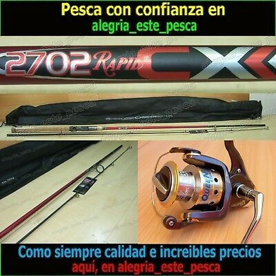 EQUIPO PESCA SPINNING - RAPID CX 2.70mt + QUEEN 600