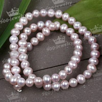 5Mm Cultured Freshwater Pink Round Loose Pearl Beads