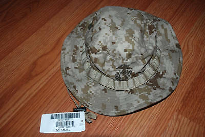 New Usmc Cover Field Marpat Desert Boonie Hat - Small.