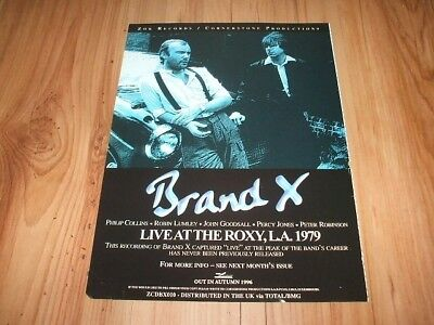 Brand X(Phil Collins)-1996 magazine advert