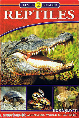 REPTILES Fascinating World Reading Level 2 Educational Fact Book Gr 2-4 Age 8-10