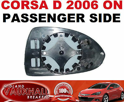 Vauxhall Corsa D Electric Wing Mirror Glass Passenger Near Left Side Sxi Sri