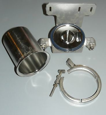 "MILLIPORE STAINLESS STEEL FILTER HOUSING 4.25"" OD"