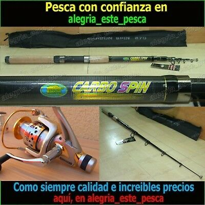 EQUIPO PESCA SPINNING - CARBO SPIN 2.70mt + PHOENIX 50
