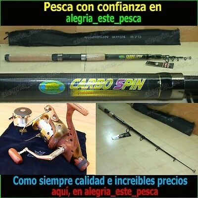 EQUIPO PESCA SPINNING - CARBO SPIN 2.70mt + ROYAL 400R