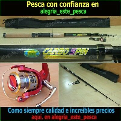 EQUIPO PESCA SPINNING - CARBO SPIN 2.70mt + DEVIL II 60