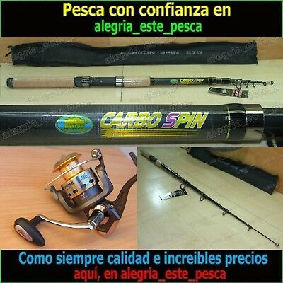 EQUIPO PESCA SPINNING - CARBO SPIN 2.70mt + FOXER FD50