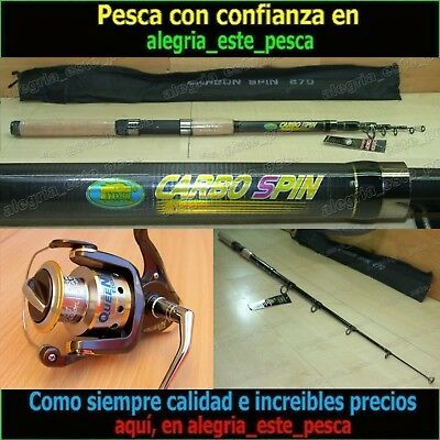 EQUIPO PESCA SPINNING - CARBO SPIN 2.70mt + QUEEN 600F
