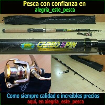 EQUIPO PESCA SPINNING - CARBO SPIN 2.70mt + PHOENIX 25
