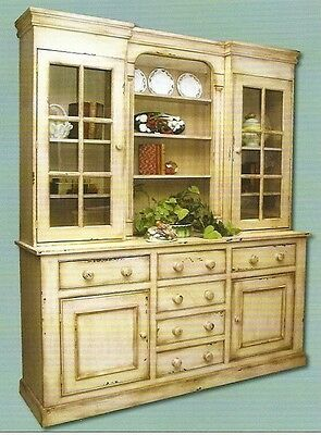 Dublin Hutch Old World China Cabinet Antique European Reproduction 25 Colors NEW