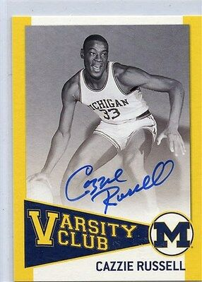 Tk Legacy Michigan Autograph Cazzie Russell Vc1