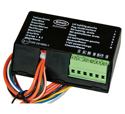 RCT485 Smart Bypass 7 Way Towing Relay For Canbus / Multiplex 12N Tow bar Wiring