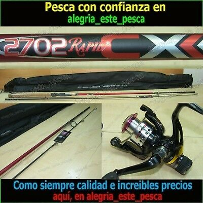 EQUIPO PESCA SPINNING  RAPID CX 2.70m + RAPID MICRO 10