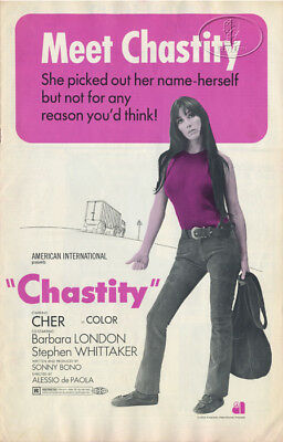 Cher 1969 Chastity Movie Program Advertising Publicity Lobby Cards