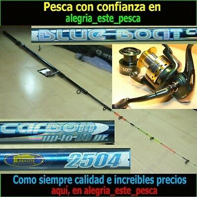 EQUIPO PESCA SPINNING  BLUE BOAT 2.50m + RAPID SEAL 60