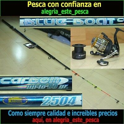 EQUIPO PESCA SPINNING  BLUE BOAT 2.50m + MATCH FD40