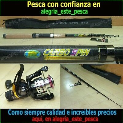 EQUIPO PESCA SPINNING CARBO SPIN 2.70m + RAPID MICRO 10