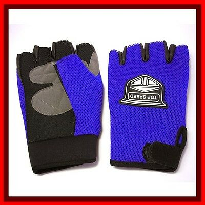 Motorcycle gloves and Bicycle gloves Half Finger M-Blue (8.2)st2