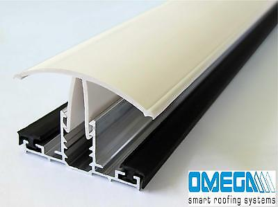 Snap Down Glazing Bar for use with 10mm or 16mm Polycarbonate Roofing Sheets