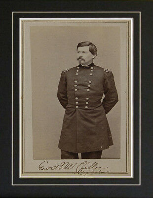 George McClellan Civil War USA Autograph Signed Photo reproduction print