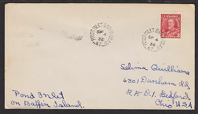 Canada Sc 219 on 1936 Pond's Inlet Nascopie Cover