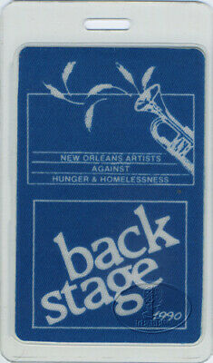NEW ORLEANS ARTISTS AGAINST HUNGER BACKSTAGE PASS blue