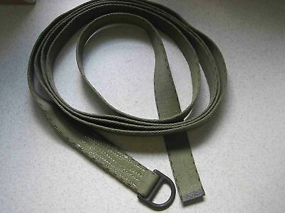 "New Military 1.75"" x 15' Webbing Strap w/ ring Cotton"