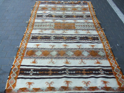 Special hand-woven  ANTIQUE MOROCCAN WOOL CARPET