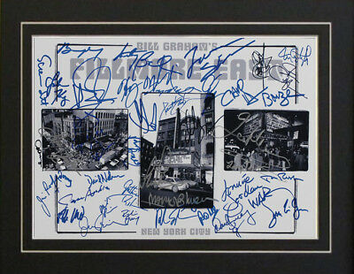 Fillmore Steppenwolf The Byrds Grateful Dead Autographs