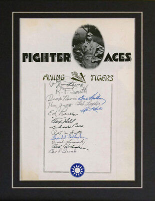 The Flying Tigers 15 Autographs Air Force USAF Fighter
