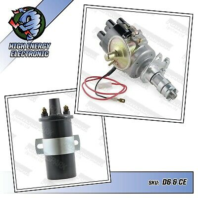 Jaguar E type 4.2 6cyl electronic distributor with coil