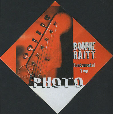 Bonnie Raitt 1998 Fundamental Tour Backstage Pass