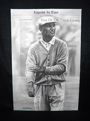 Ben Hogan Masters & US Open Champion L/E Lithograph